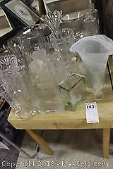 Glass Vases. C
