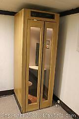Solid Wood Lighted Phone Booth