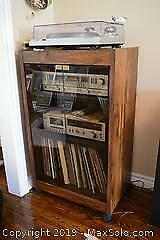 Portable Record Player Stand C
