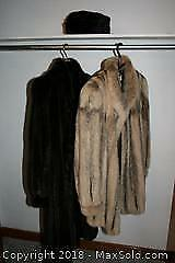 Two Mink Coats and Hat
