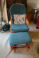 Glider Rocking Chair and Ottoman. A