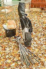 Golf Bag And Clubs. A
