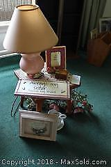 Mini Table And Lamp. A
