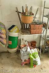 Gardening Planters and Fertilizer. A