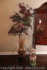 Faux Plant And Decor B