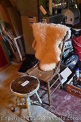 Piano Stool, Chair, Rug - A