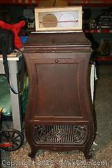 Puritan Phonograph Cabinet And Vintage Record Player
