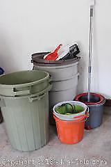 Garbage Cans And Pails. A