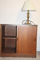Cabinet And Lamp. C