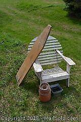 Vintage Wood Lawn Chair And More C