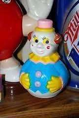 """Roly Poly 1960's Vintage Childs Toy Celluloid Clown - 5 1/2"""" Windsor Region Ontario image 1"""