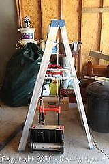 Step Ladder and Electric Snow Shovel A
