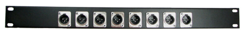 1U Procraft 8 Channel Male XLR Rack Panel     AFP1U-8XM-BK