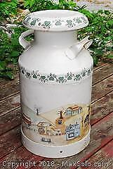 Decorated Milk Can. A