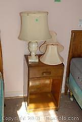 Side Table and Lamp B