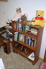 Wooden Bookcase and Contents D