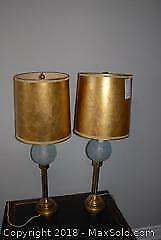 Pair Of Retro Lamps - A