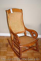 Antique Oak Bentwood Arm Rocking Chair B