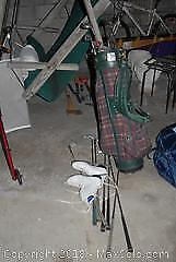 Golf Clubs and Womens Ice Skates B