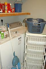 Storage Rack And Cleaning Supplies - B