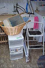 Vintage Washboard Step Stool and More C