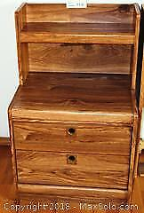 "Palliser Bedside Table with Under Lit ShelfPick up in Time-slot ""C"" ONLY"