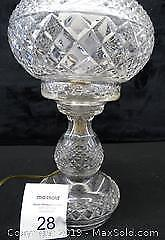 Antique Waterford Crystal Lamp