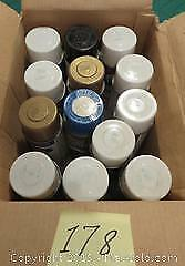 Thirteen cans of spray paint