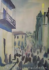 Orientalist Wood Framed Water Colour Painting Artist Signed Doloodo C