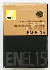 Brand New Nikon EN-EL15 Li-ion battery Rechargeable