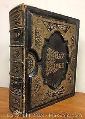 1882 Antique Holy Bible