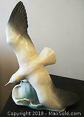 LARGE ROSENTHAL SWOOPING TERN SEAGULL BIRD STATUE 1