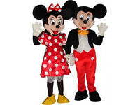 MINNIE & MICKEY MOUSE/ NINJA TURTLE (LEO) MASCOT HIRE