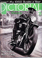 An Old Metropolitan Police Motorcyclist Image c.1934 from PICTORIAL MAGAZINE