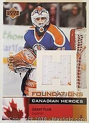 Grant Fuhr Game Used Jersey Swatch Hockey Card
