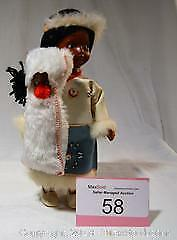 Vintage Native Peoples or INDIAN DOLL with BABY in costume.