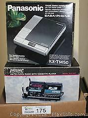 "AM/FM Clock Radio with Cassette Player and 2 Answering Machines Pick up in Time-slot ""B"""