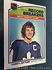 1976 OPC Darryl Sittler Record Breaker 10 Points
