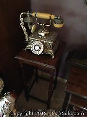 Side table and vintage phone A