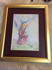 Water Coloured Painting Framed Signed By Judith