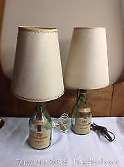 2 Vintage Bottle Lamps