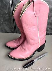 Leather Childrens Cowboy Boots