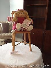 CABBAGE PATCH DOLL AND CHAIR