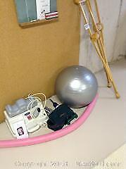 Massager, Crutches and Ball. B