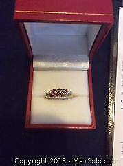 Ruby And Diamond Ring-A