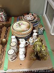 Salt And Pepper Shakers And China B
