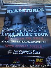 Headstones Glorious Sons Concert Poster Autographed
