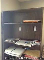 Bookcase Stationary and Water Coolers A