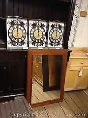 Wrought Iron Flower Clocks and More A