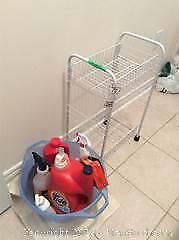 Metal Shelf and laundry Cleaners